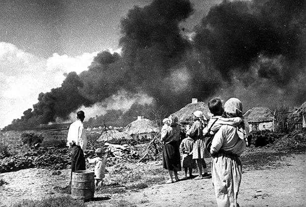 Немецкие войска вторгаются на Украину, 1941 год
