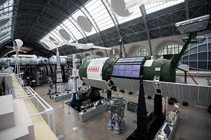 Макет орбитальной станции «Алмаз» в центре «Космонавтика и авиация» на ВДНХ