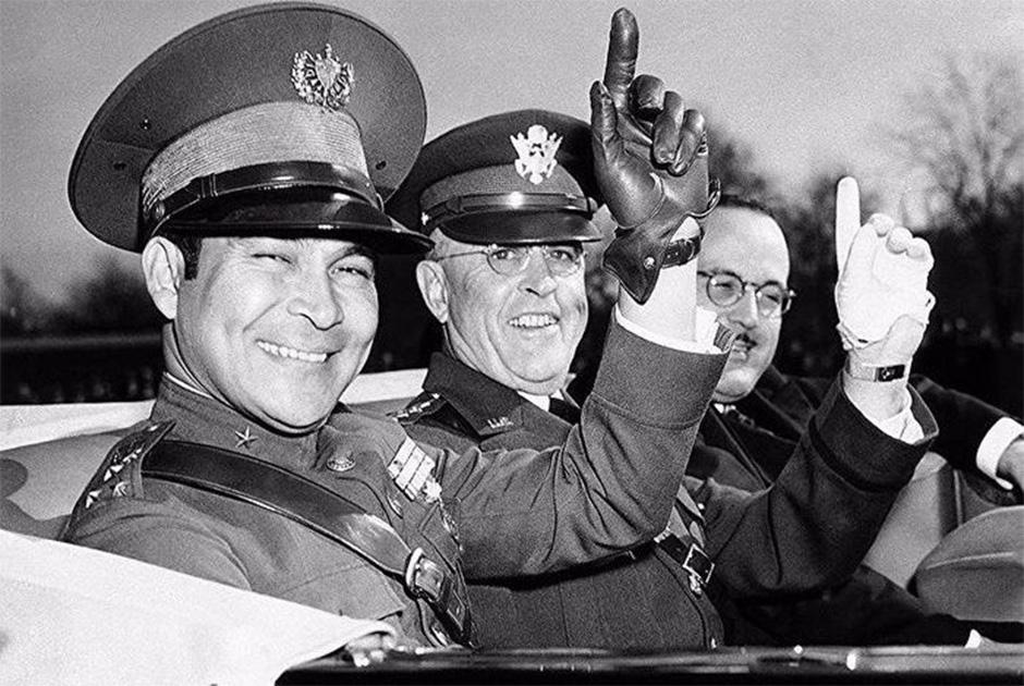Фульхенсио Батиста (слева) во время визита в Вашингтон, 1938 год