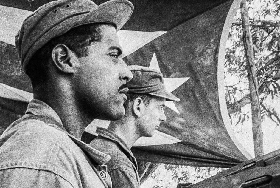 Добровольцы-эмигранты в учебном лагере, где США готовили их для вооруженной борьбы на Кубе. Апрель 1963 года