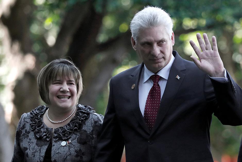 Президент Кубы Мигель Диас-Канель с супругой Лиз Куэста