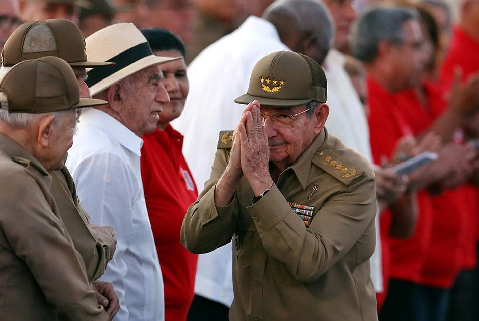 Рауль Кастро на мероприятиях в честь 64-й годовщины нападения на казармы Монкада. Июль 2017 года