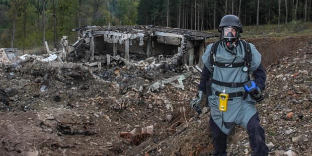Последствия взрывов складов боеприпасов в Врбетице
