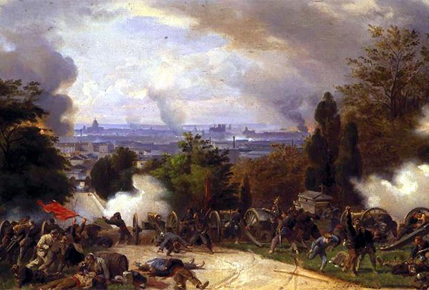 Феликс-Эмманюэль-Анри Филиппото «Последний бой на кладбище Пер-Лашез 27 мая 1871 года»