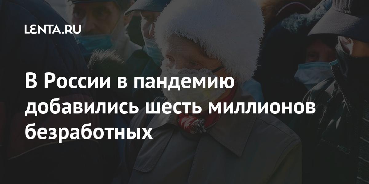 В России в пандемию добавились шесть миллионов безработных