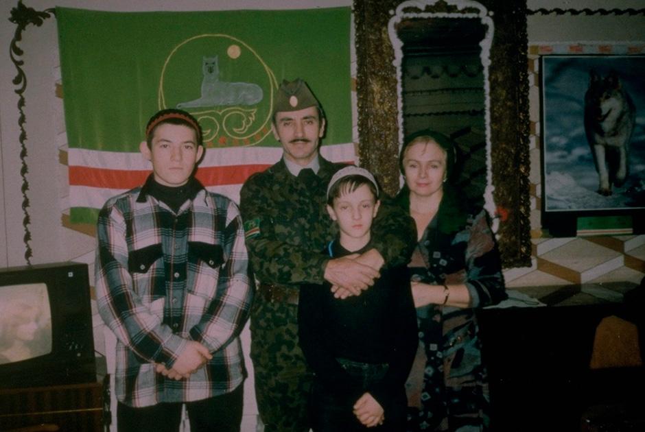 Дудаев с семьей