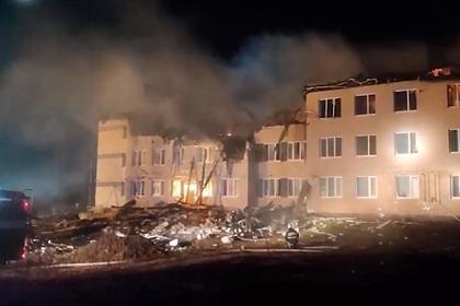Появилось видео разрушенного взрывом жилого дома в Нижегородской области