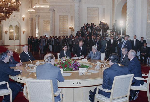 Руководители восьми суверенных республик, 18 октября 1991 года