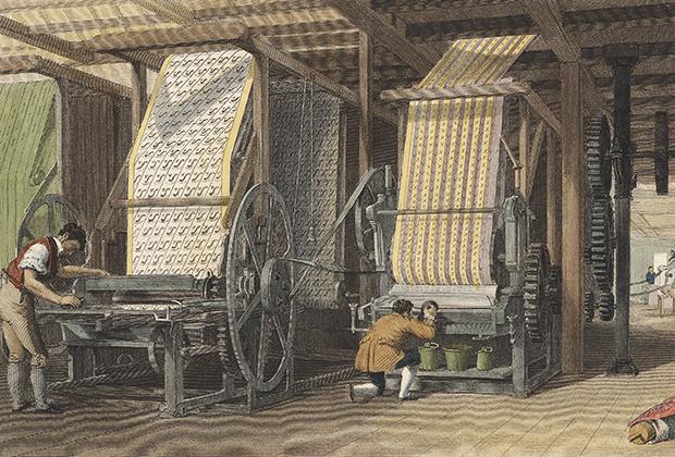Печатные машины для текстиля, Лондон, 1834 год