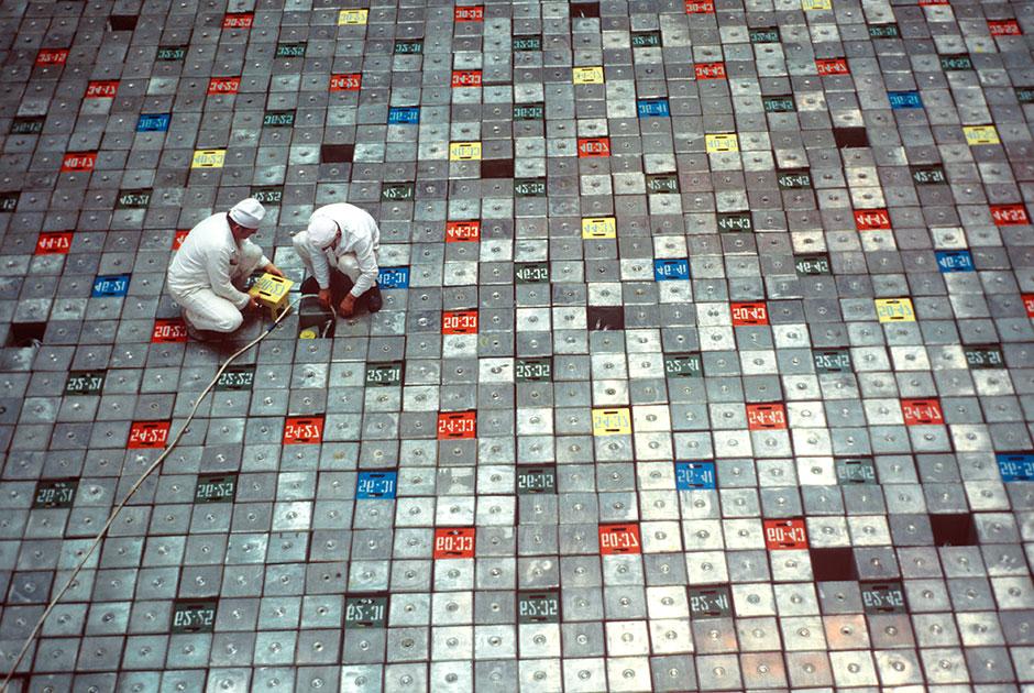 Атомный реактор на Чернобыльской АЭС, 1980 год