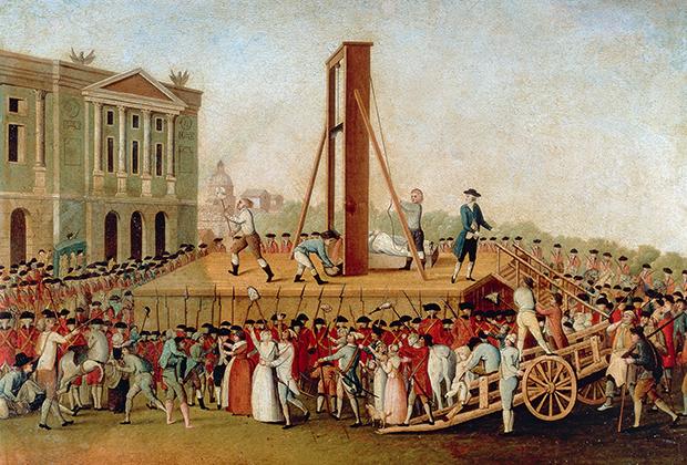 Казнь Марии-Антуанетты 16 октября 1793 года. Неизвестный художник XVIII века