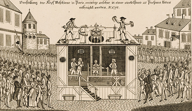 Презентация гильотины. Париж, 25 апреля 1792 года
