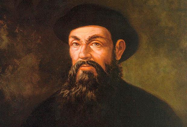 Фернан Магеллан. Портрет работы неизвестного художника XVII века. Галерея Уффици, Флоренция