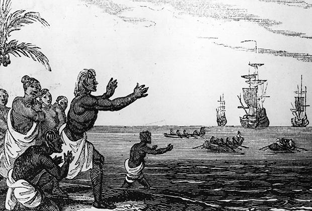 1510 год. Радостные туземцы встречают португальские корабли