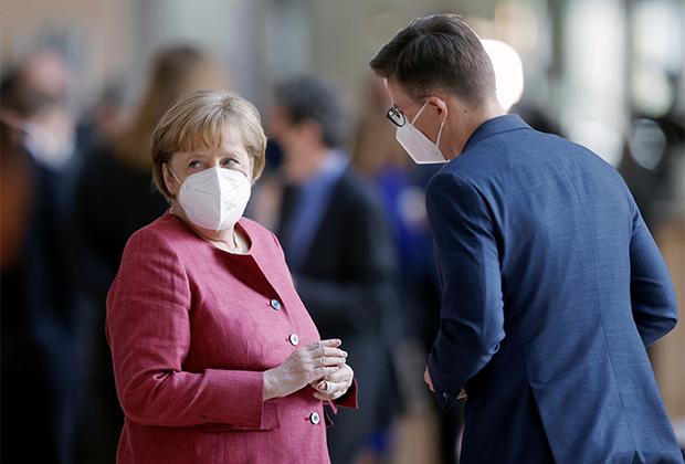 Канцлер Германии Ангела Меркель в нижней палате парламента
