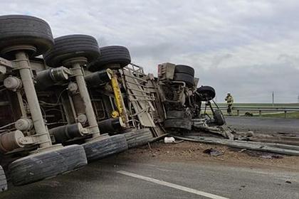 В Крыму перекрыли трассу «Таврида» из-за аварии