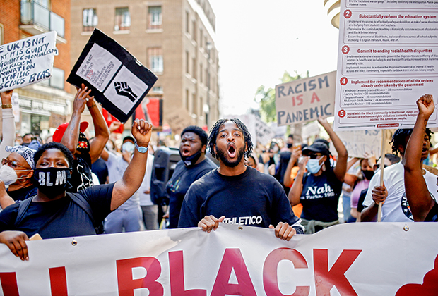 Акция протеста Black Lives Matter в Лондоне