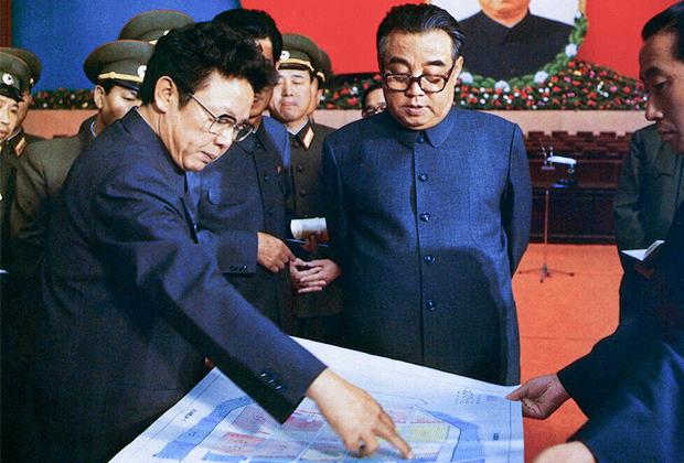 Ким Чен Ир и Ким Ир Сен