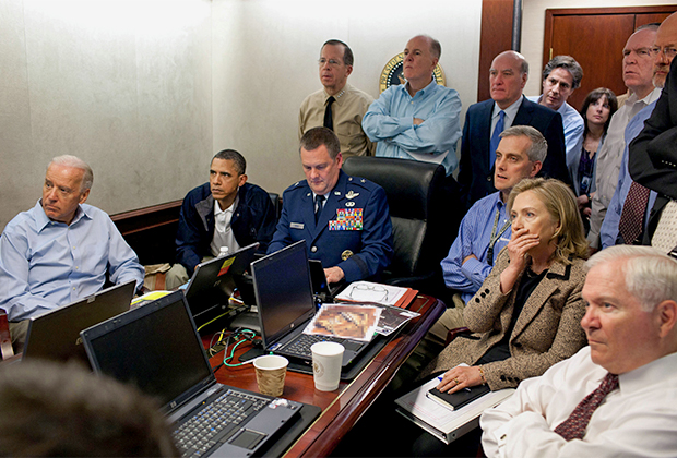 Джо Байден, Барак Обама и Хиллари Клинтон следят за ходом рейда