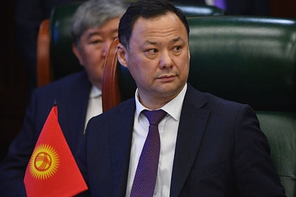 Министр иностранных дел Киргизии Руслан Казакбаев