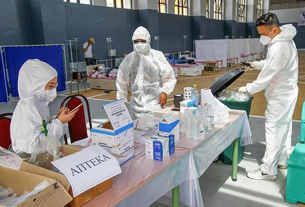 Стационар для больных коронавирусом в Бишкеке