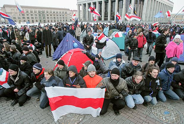Акция протеста в Минске, 21 марта 2006 года