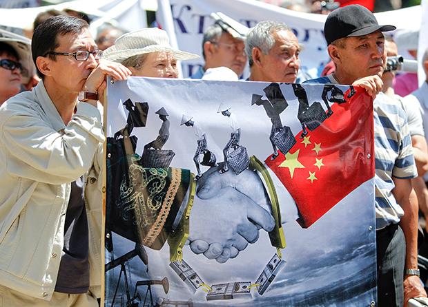 Протест против продажи казахстанских национальных ресурсов Китаю. Алматы, Казахстан, 2011 год