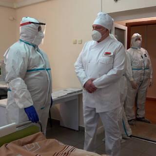 Лукашенко в Молодечненской центральной районной больнице