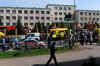 В казанской школе после массового убийства нашли бомбу