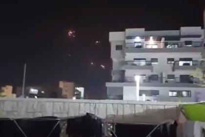 Перехват ракет «Железным куполом» в небе над Израилем сняли на видео