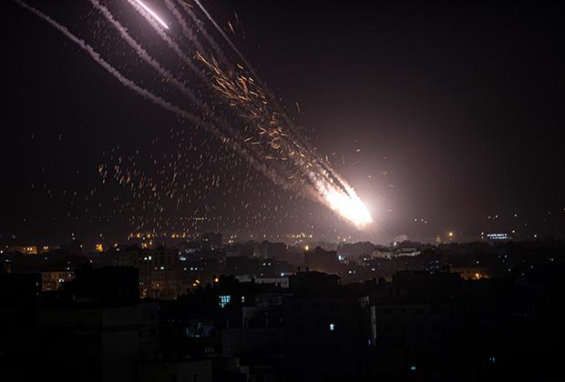 Выпущенная по Израилю из сектора Газа ракета
