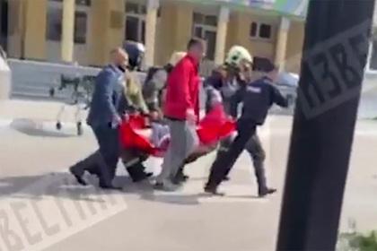 Опубликовано видео первых минут после стрельбы в казанской гимназии