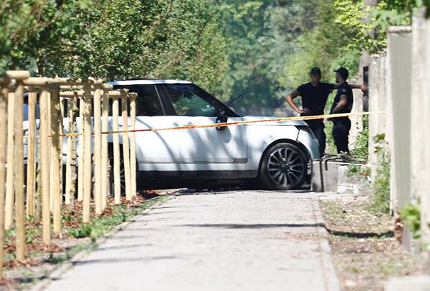 Машина Мартинса Бункуса, в которой его застрелили