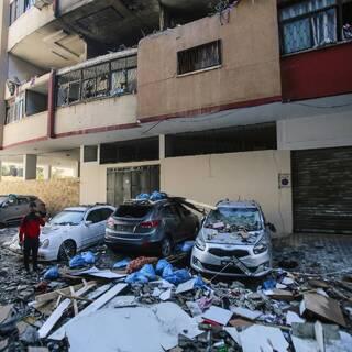 Последствия обстрелов в секторе Газа