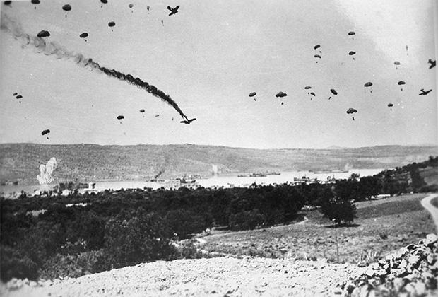 Высадка немецких парашютистов на Крит. Май 1941 года
