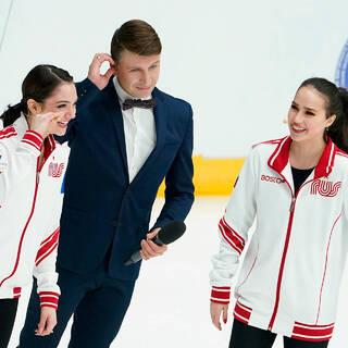 Евгения Медведева, Алексей Ягудин и Алина Загитова
