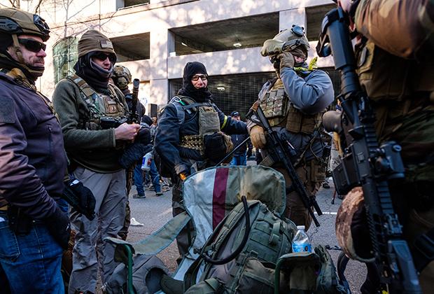 Участники митинга в поддержку Второй поправки, штат Вирджиния