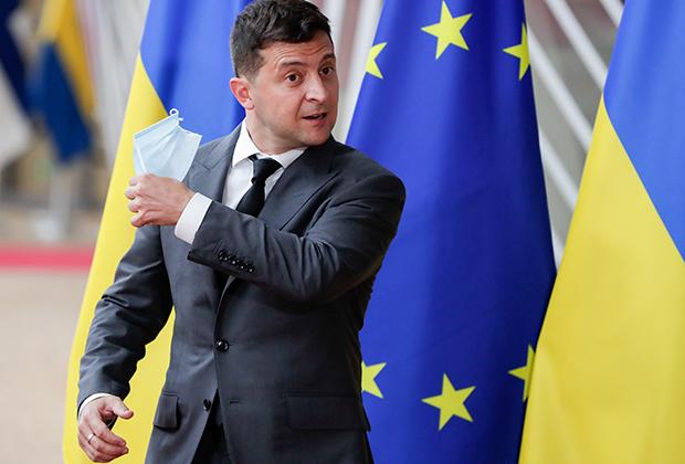 Владимир Зеленский на двустороннем саммите с ЕС в Брюсселе, октябрь 2020 года