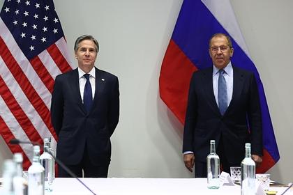 Энтони Блинкен и Сергей Лавров