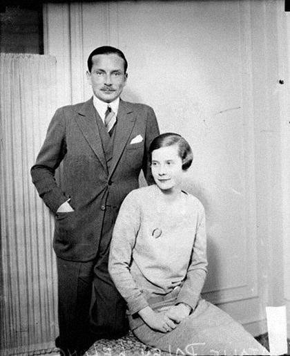 Натали Палей с первым мужем, модельером Люсьеном Лелонгом