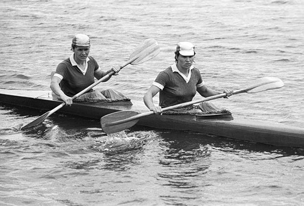 Юлия Рябчинская (справа) и Галина Осминина, 1972 год