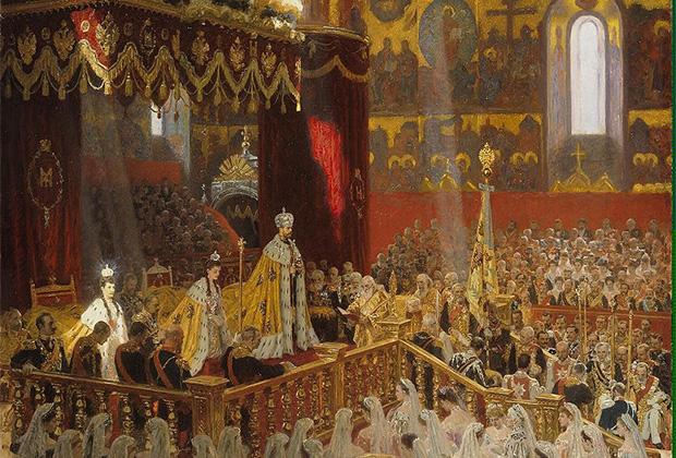 «Коронация Николая II в Успенском соборе Московского Кремля 14 мая 1896 года»