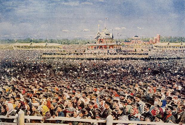 Ходынское поле во время народного гуляния по поводу коронации Николая II