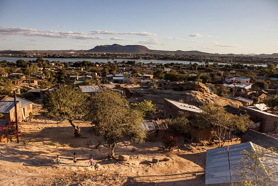 Городок Тете в Мозамбике