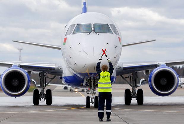 Самолет «Белавиа», который в 2016 году был вынужден за 50 километров до входа в белорусское воздушное пространство вернуться в киевский аэропорт