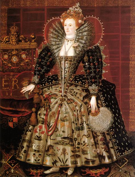 Портрет королевы Елизаветы I, датированный 1573-1575 годами