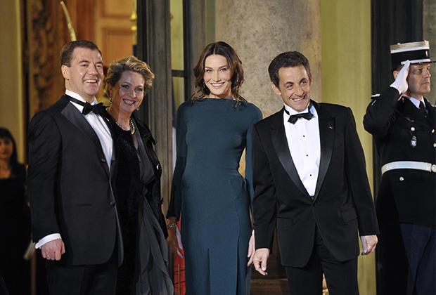 Государственный ужин по случаю визита в Париж президента России Дмитрия Медведева с супругой, 3 марта 2010 года