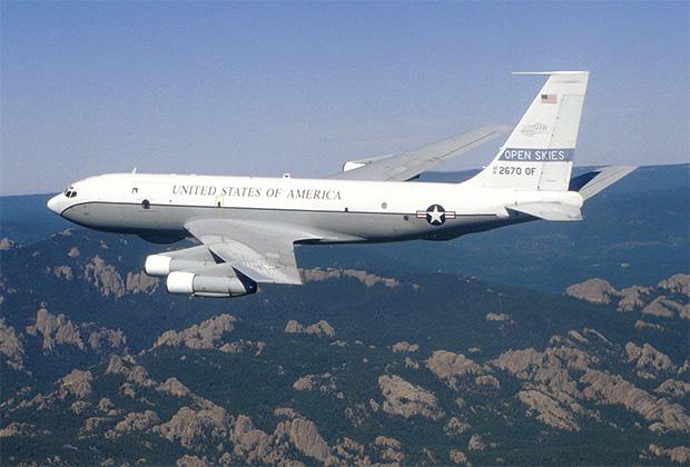 Самолет Boeing OC-135B, ранее использовавшийся США в рамках Договора по открытому небу