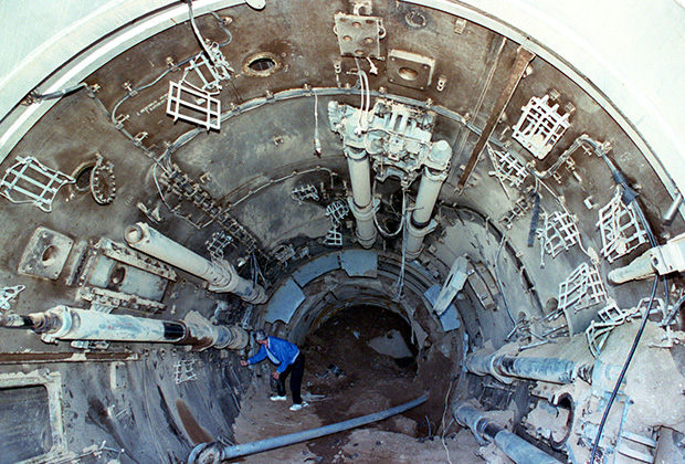 Ствол шахты ПУ после взрыва в соответствии с требованиями ДСНВ