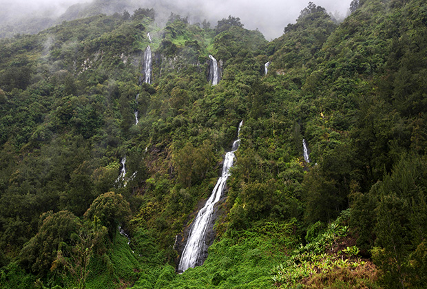 Водопады на острове Реюньон